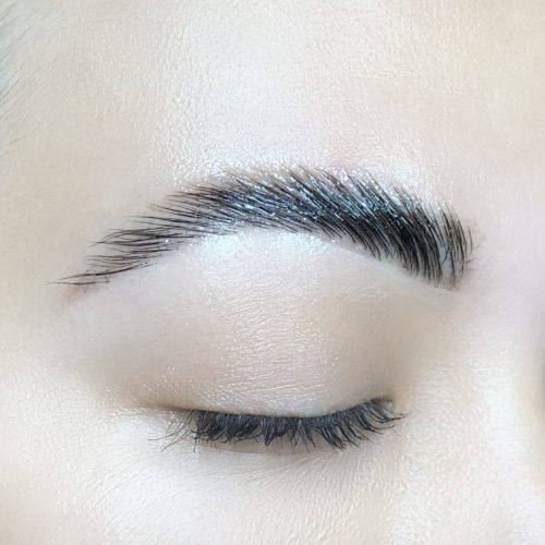 Close up of right eye with Brow Up