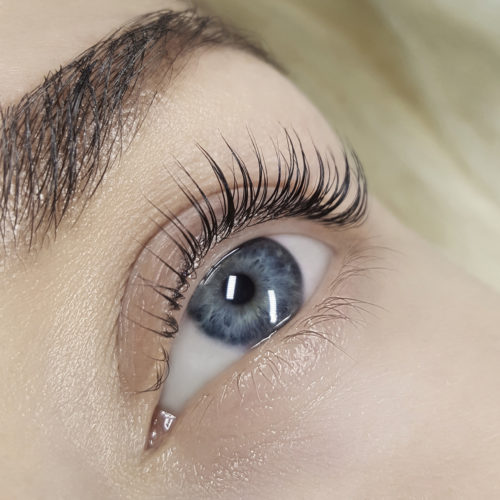 Close up of left eye with Lash Filler