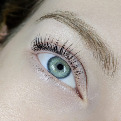 Close up of right eye with Lash Filler