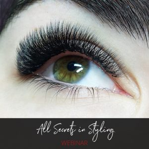Right eye with beautiful eyelash extensions